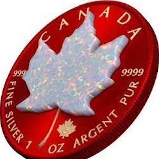 Kanada - 5 Dollars2019 Maple Leaf Space RED 1oz Silver...