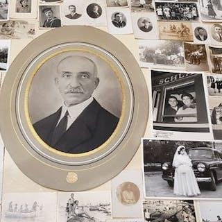 lotto 100 foto vintage d'epoca di vari formati - vari momenti di vita quotidiana