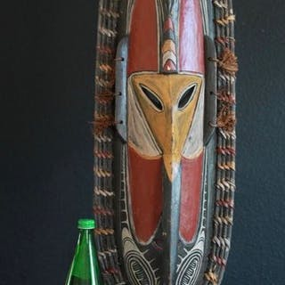 Große Langnasenmaske (1) - Holz - Angoram Papua Neuguinea