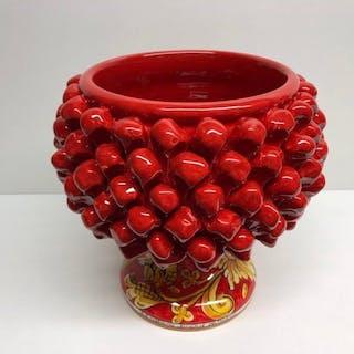 Caltagirone - Oggetto in ceramica, Vaso, Vassoio - Ceramica