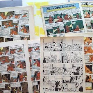 Tintin On a MarchéSur La Lune « Making Of»- Planche 38...