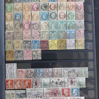Frankreich 1849/1951 - Selection of Stamps in a Stock Book many Classic - Yvert