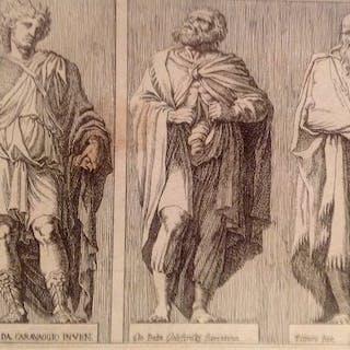 G.Battista Galestruzzi.//Polidoro da Caravaggio - Statue Romane