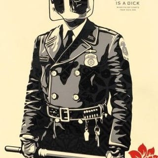 Shepard Fairey (OBEY) - My Florist is a Dick - Large Format