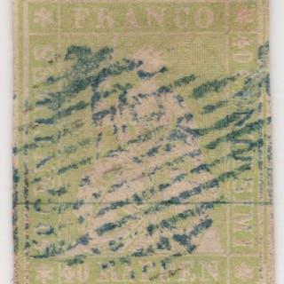 Schweiz 1854/1862 - Sitzende Helvetia ungezähnt