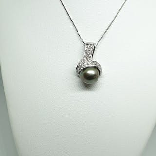 Raima - 18 quilates Oro blanco - Collar con colgante - Diamantes