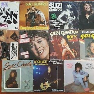 """Suzi Quatro and Joan Jett - lot of 11 x 7"""" singles..."""