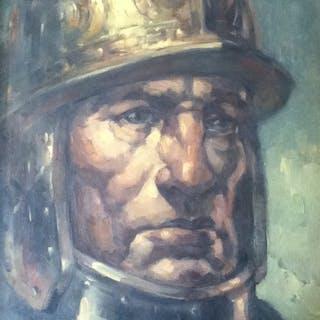 Edmond van Dooren (1896-1965) - 'Portret van een soldaat'