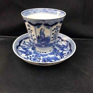 tazza e piattino - Porcellana - Cina - XIX secolo