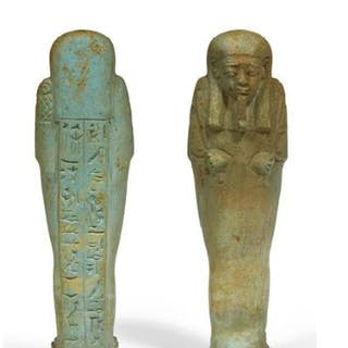 Égypte ancienne Faïence Shabti for Padipepet son of...