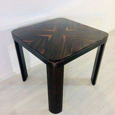 Tavolo da pranzo Art Deco piccolo in legno Makassar