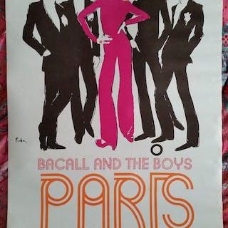 Joe Eula - Bacall and the boys, Paris - 1968