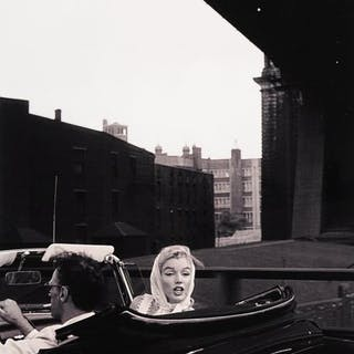 Sam Shaw (1912-1999) - Marilyn Monroe and Arthur Miller, New York City, 1957