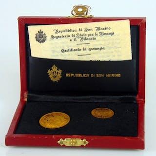 San Marino - 1 + 2  Scudo 1974  - Oro