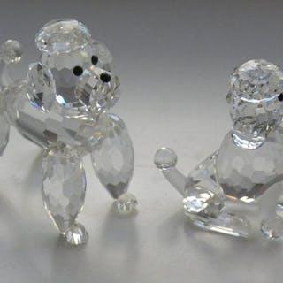 Swarovski - barboncino seduto e in piedi - cristallo