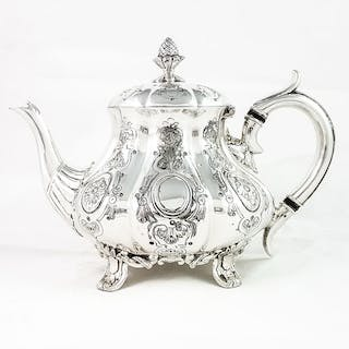 Teapot - Louis XIV Style - Silver plated - mid 19th century