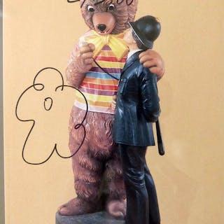 Jeff Koons - Bear and Policeman - handsigniert