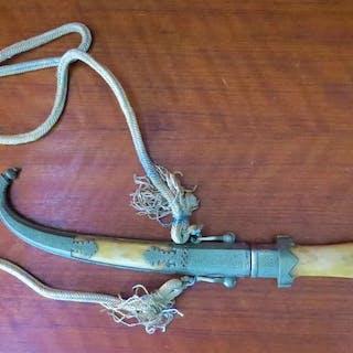 Ungheria - Knife, Sword - Pugnale ricurvo con impugnatura di osso