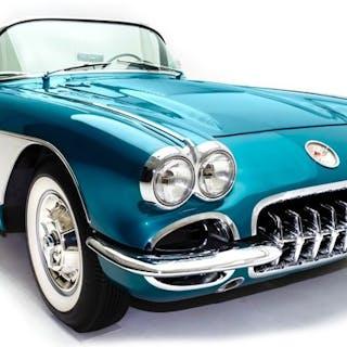 Motormax - 1:18 - Chevrolet Corvette Roadster (cabrio) - Modell 1958