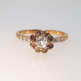 18 kt. Pink gold - Ring - 0.25 ct Diamond - Diamonds