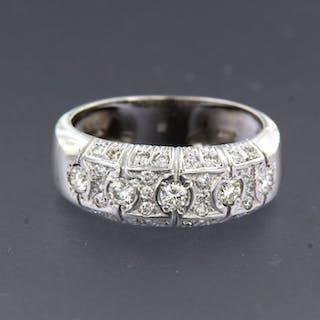 18 carati Oro bianco - Anello - 0.65 ct Diamante