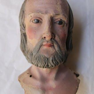 Sculpture, St. Joseph (head of) - Wood - First half 18th century