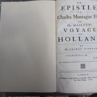 George Stepney - An Epistle to Charles Montague Esq; on...