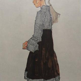 Egon Schiele (1890 - 1918) - 2 Prints; Österreichisches...
