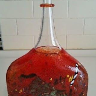 Bertil Vallien - Kosta Boda - bottiglia o vaso (1) - Vetro (vetro colorato)