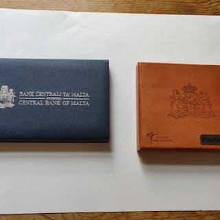 Die Niederlande, Malta - Euro Proofset 2009 en 2015