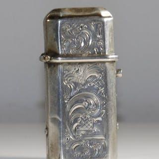 Cajita de yesca - .833 plata - Países Bajos - Segunda mitad del siglo XIX
