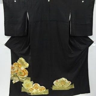 Kimono - Seide - Kimono with Pine and Japanese...