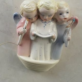 Camillo Ghico - Keramos- group of three little angels - Ceramic