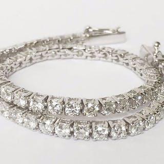 18 carati Oro bianco - Bracciale - 5.20 ct Diamante