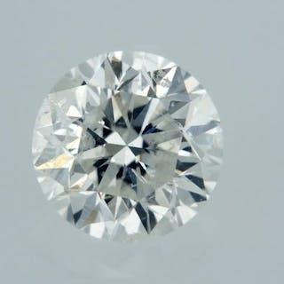 1 pcs Diamond - 0.52 ct - Round - G - SI2