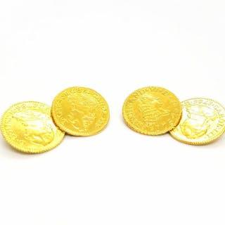 18 kts. Yellow gold - Cufflinks
