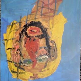 Georg Baselitz - Portrait upside down - 1988