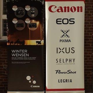 Canon Reclame banners 2 stuks, uniek!