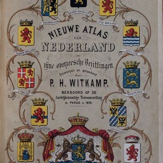P.H. Witkamp - Nieuwe Atlas van Nederland en zijne...