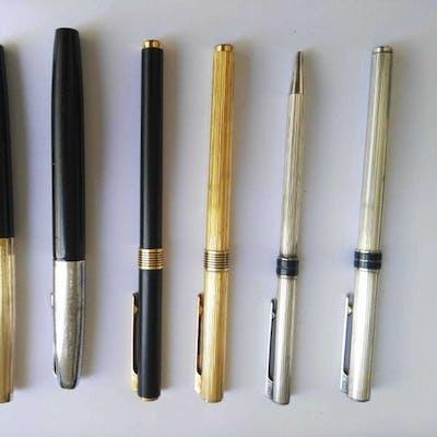Aurora - 5 penne stilografiche 1 sfera aurora - Collezione completa di 6