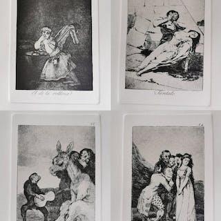 Francisco de Goya - 4 lotes - caprichos de Goya numeros 4,9,14 y 38