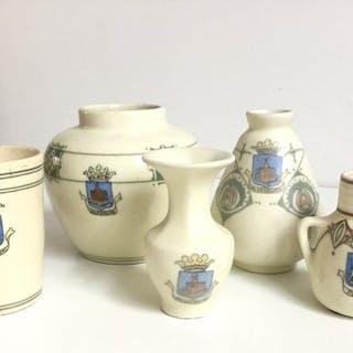 Bert Nienhuis - De Distel - Vasen und Tasse (5) - Keramik