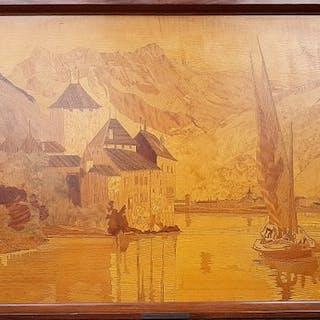 Pierre Rosenau - Plaque, Lake of Geneva