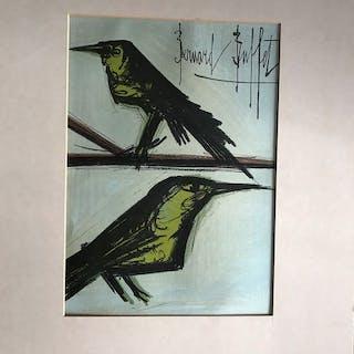 """Bernard Buffet (d'après) - """"Deux oiseaux"""""""