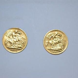 United Kingdom - 1/2 Sovereign 1896 e 1897 Victoria - Gold