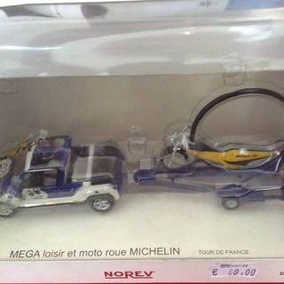 """Norev - 1:43 - Mega Loisir et Moto Roue """"Michelin"""" Tour..."""
