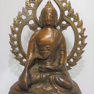 "Skulptur (1) - Bronze - ""Erdberührendes"" Mudra - Old..."