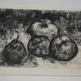 André Minaux  - Nature morte aux pommes