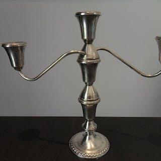 Sompteux grand candelabre 3 branches ( lot 1 ) - Argent...