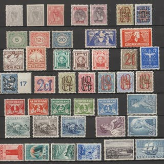 Niederlande 1922/1934 - Selection with, amongst others Rembrandt and Aid issues